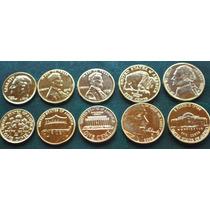 Estados Unidos *oro*excelente Coleccion* 5 Unid-oro 24 Kts