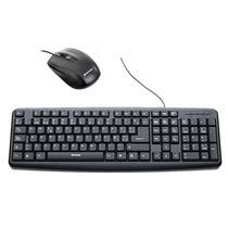 Combo Teclado Y Mouse Optico Usb Con Cable Verbatim