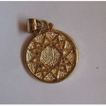 Estrella De 12 Puntas Dije Amuleto Proteccion Chapa Oro 18k
