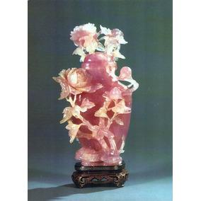 Cartão Postal Chinês Jarro Em Jade Com Flores Em Alto Relevo