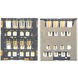 Leitor Chip Sim Card Xperia C5302 C5303 M35h Conector Slot