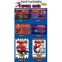 Invitaciones Y Kit Cumpleaños Hombre Araña Spiderman
