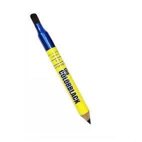 Lápis De Olho Jumbo Cor Preto Com Apontador Pincel P Esfumar
