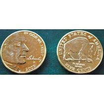 Estados Unidos *oro*5 Cents 2005 Bufalo Con Oro 24 Kts