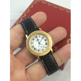 Cartier Must De Dama En Plata Dorado Muy Hermoso Impecable