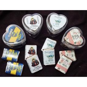 Cajita Corazon Souvenir C/chocolate Personalizados 15 Boda