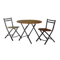 Set Mesa Y 2 Sillas Plegables Cocina / Desayunador