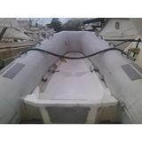 Bote Inflable Dingui Caribe L 8 Con Motor Fuera De Borda
