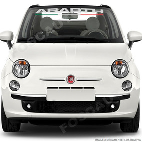 Adesivo Decorativo Parabrisa Abarth - Fiat 500 Bravo Weekend