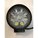 Faro Led Redondo 9 Leds 27w Jeep Razor Motos