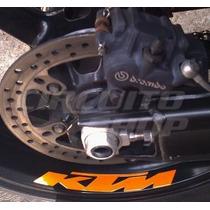 Kit Adesivos Alto Relevo Refletivo Roda Tanque Bau Moto Ktm