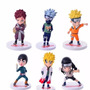 Figuras Tipo Gashapones Naruto Set 6 Personajes 10cms Aprox
