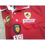 Camisa Polo Ferrari Gola Dupla Vermelha - Frete Gratis