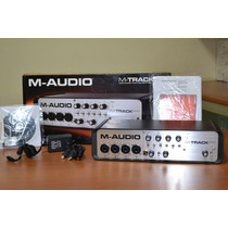 Placa Interface M Audio Quad + Pro Tools E Ignite + Usb Hub