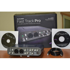 Placa Interface Fast Track Pro M Audio 4x4 Pro Tools