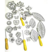 Frisador Kit 14 Frisadores Para Flores De Eva Em Aluminio