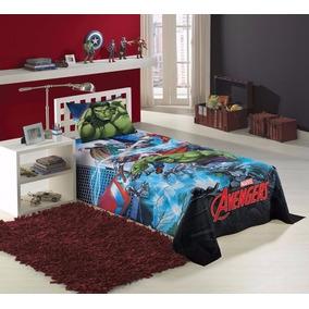 Jogo De Cama Avengers Os Vingadores 2 Peças Lepper Lançament