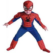 Disfraz Spider-man Músculo Del Pecho Del Niño L (4-6)