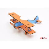 Avião Do Pequeno Príncipe Em Mdf Laranja E Azul