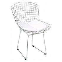 Cadeira Bertoia Cromada Assento Branco - Pronta Entrega