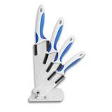 Set 4 Cuchillos De Cerámica Con Soporte Acrílico / Devitrina