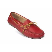 Zapato Mocasín Casual Dama Mega 1682 Rojo