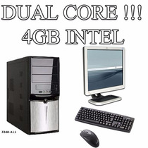 Computadora Intel Dual Core 4gb Ram Disco 250gb Con Monitor