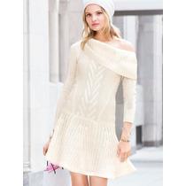 Victoria`s Secret Vestido Sweater S (90-95) Color Ivory