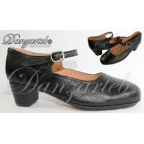 Zapatos Para Danza Folklórica Dama Profesional Español 5cm