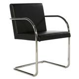 Cadeira Brno Tubular Cromada -12 X Sem Juros