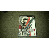 Ps2 Metal Gear Solid 2 Original 100%!!!