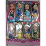 Princesas Bonecas Kit Com 8 Frozen Elsa Cinderela Rapunzel
