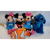 Mickey - Minie - Nemo - Originais Disney - Tam. Médio 45 Cm