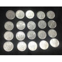 Lote Com 20 Moedas Japonesas Originais De 1 Yen De Alumínio