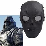 Máscara Skull Black Airsoft Cosplay
