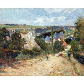 Lienzo Tela Paul Gauguin Camino Villa Osny Arte Impresionism