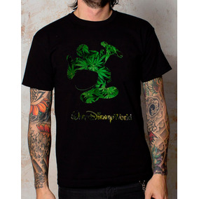 Playeras O Camiseta Walt Disney Marihuana World, Nuevas!!
