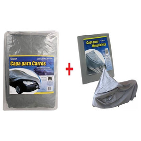 Capa Protetora Para Carro + Capa De Moto Proteção Solar