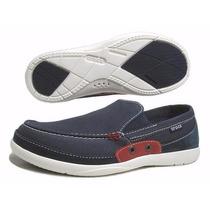 Mocasín Crocs Walu Accent Men Zapato Náutico Hombre Original