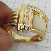 8041 Anel De Ouro 18k 750 Com 14 Diamantes