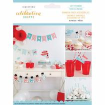 Decoración Kit Para Fiesta Navidad Nieve 62 Piezas
