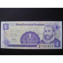 Nicaragua Billete De 1 Centavos De Córdoba, Año 1991 - S/c