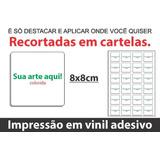 60 Adesivos Etiquetas Personalizadas 8x8cm Tonsecores