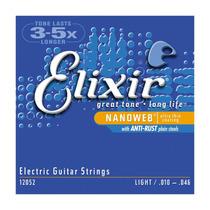 Encordoamento P/ Guitarra Elixir 0.10 Original Usa