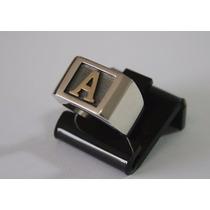 Anel De Prata Masculino C/ Letra Em Ouro - A100, A108