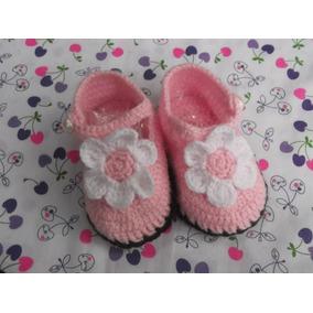 Zapatitos De Hilo Para Bebe, Tejidos A Mano / Crochet