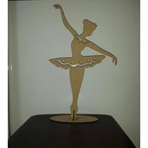 2 Bailarinas Vazada Mdf 50cm Decoração Mesa Festa 15 Anos