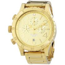 Nixon A Para Hombre El Chrono Todo Reloj De Oro