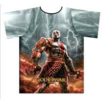 Camisa Camiseta Estampa Total God Of War Kratos