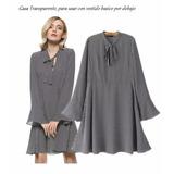 Vestido Camisola Importado De Gasa Transparente Qilaixing